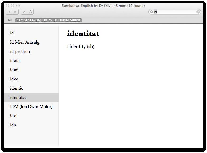 sambahsa / Sambahsa Dictionary for Windows, Mac and Linux